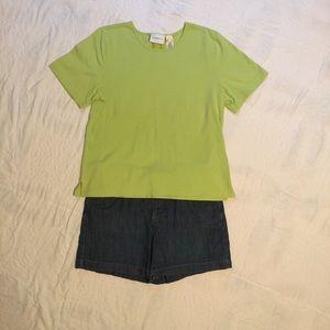 Liz Claiborne Light Green Tee - XL